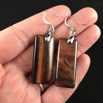 Red Tigers Eye Stone Jewelry Earrings #7EqEpWBHWqM