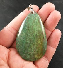 Semi Transparent Green Dragon Veins Stone Agate Pendant #i1HcpTnSyAM