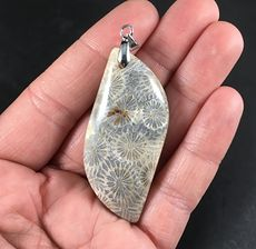 Stunning Coral Fossil Stone Pendant #RlBvd6DQcpo