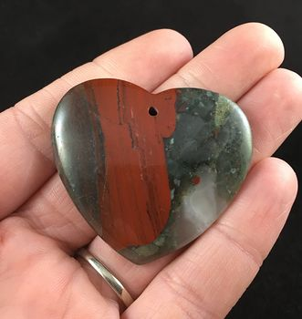 Stunning Heart Shaped African Bloodstone Jewelry Pendant #6ScOB6Z1Ajk