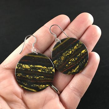 Stunning Round Australian Tiger Eye Stone Jewelry Earrings #hh3i7m0Nrnw