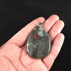 Stunning Sparkly Natural African Bloodstone Heliotrope Jewelry Pendant #iDCv7fXcAA8