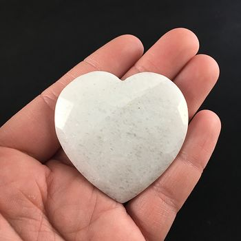 White Jade Stone Faceted Heart Shaped Cabochon #lWFReL5sebs